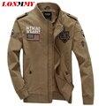 LONMMY 2016 autumn jacket men coat mens jackets and coats Military winter jackets Men coats Army Military bomber Cottons M-4XL