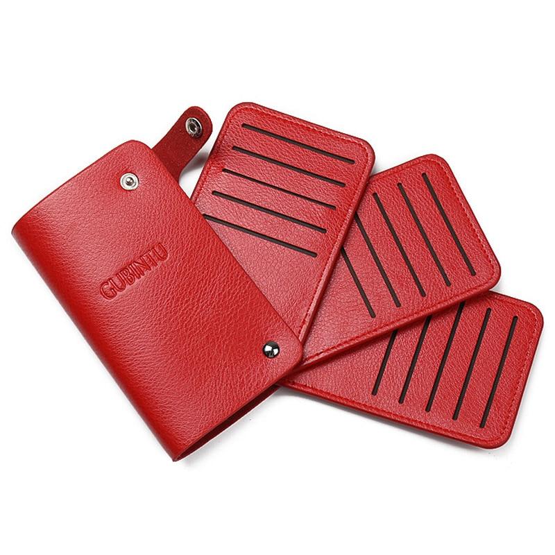 Solid Men\'s leather credit card holder wallet ID cards bag business ...
