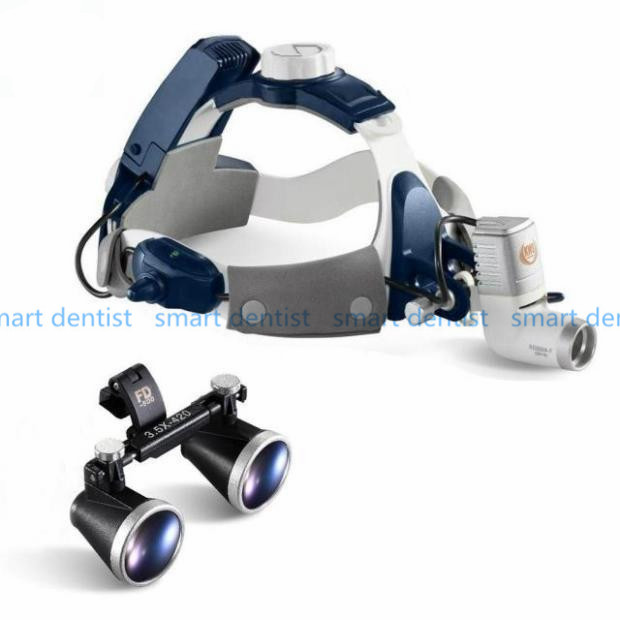 Good Quality 2017 New 5W LED Surgical Head Light dental Lamp All-in-Ones Headlight with loupes 2.5X , 3.5X good quality dental cordless endo motor with led light treatment 16 1 reduction contra angle
