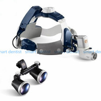 Good Quality 2017 New 5W LED Surgical Head Light dental Lamp All in Ones Headlight with loupes 2.5X , 3.5X