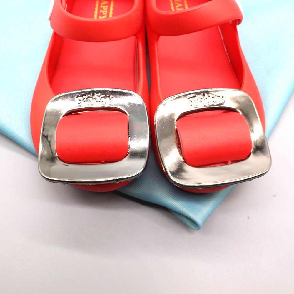 Детская повседневная мягкая обувь 2019 лето новые детские сандалии девушка Кнопка Желе Детская обувь мультфильм милый пляжная обувь принцессы