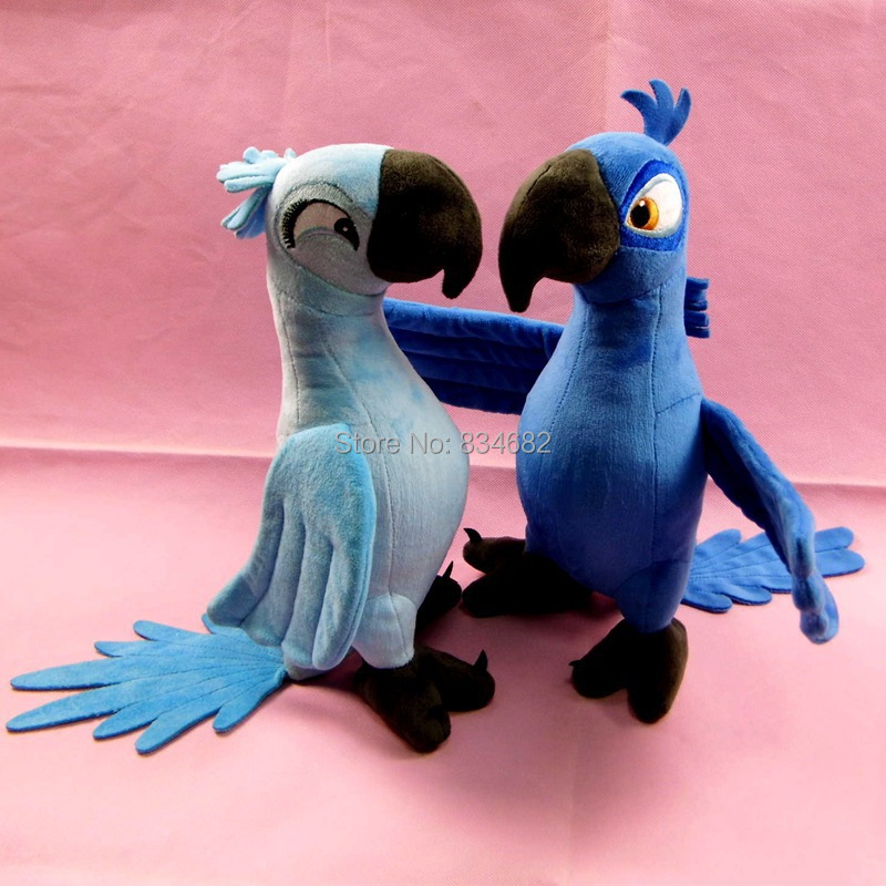 J.G Chen 2pcs/lot 30CM New Rio 2 Movie Cartoon Plush Toys Blue Parrot Blu & Jewel Bird Dolls Christmas Gifts For Kids Plush Toy