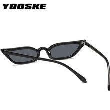 YOOSKE Cat Eye Sunglasses Small Size Modern Retro Designer Women Sun Glasses