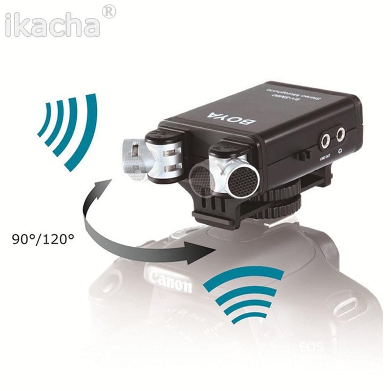 Micrófono Condensador Estéreo BOYA BY-SM80 para Videocámara Cámara De Vídeo Grabadora Nuevo