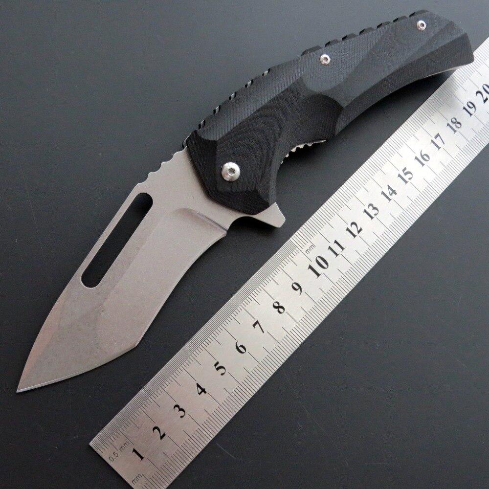 Eafengrow ef48 58-60hrc d2 lâmina g10 lidar com faca dobrável sobrevivência ferramenta de acampamento caça bolso faca tático edc ferramenta ao ar livre