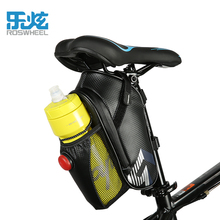 ROSWHEEL 2017 rear light waterproof mtb bike bag bicycle saddle bag cycling rear seat bags accessories with water bottle pocket