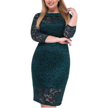 Women Dress Plus Size Lace Fashion Dress Big Size Green Dress Vestidos Women Clothing