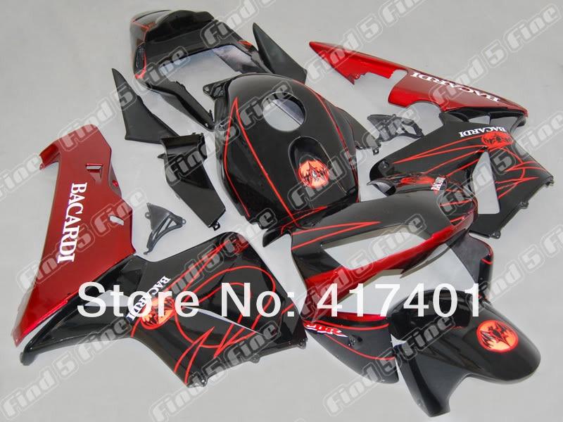 ᗜ LjഃMolde de inyección negro rojo carenados para Honda CBR600RR 03 ...