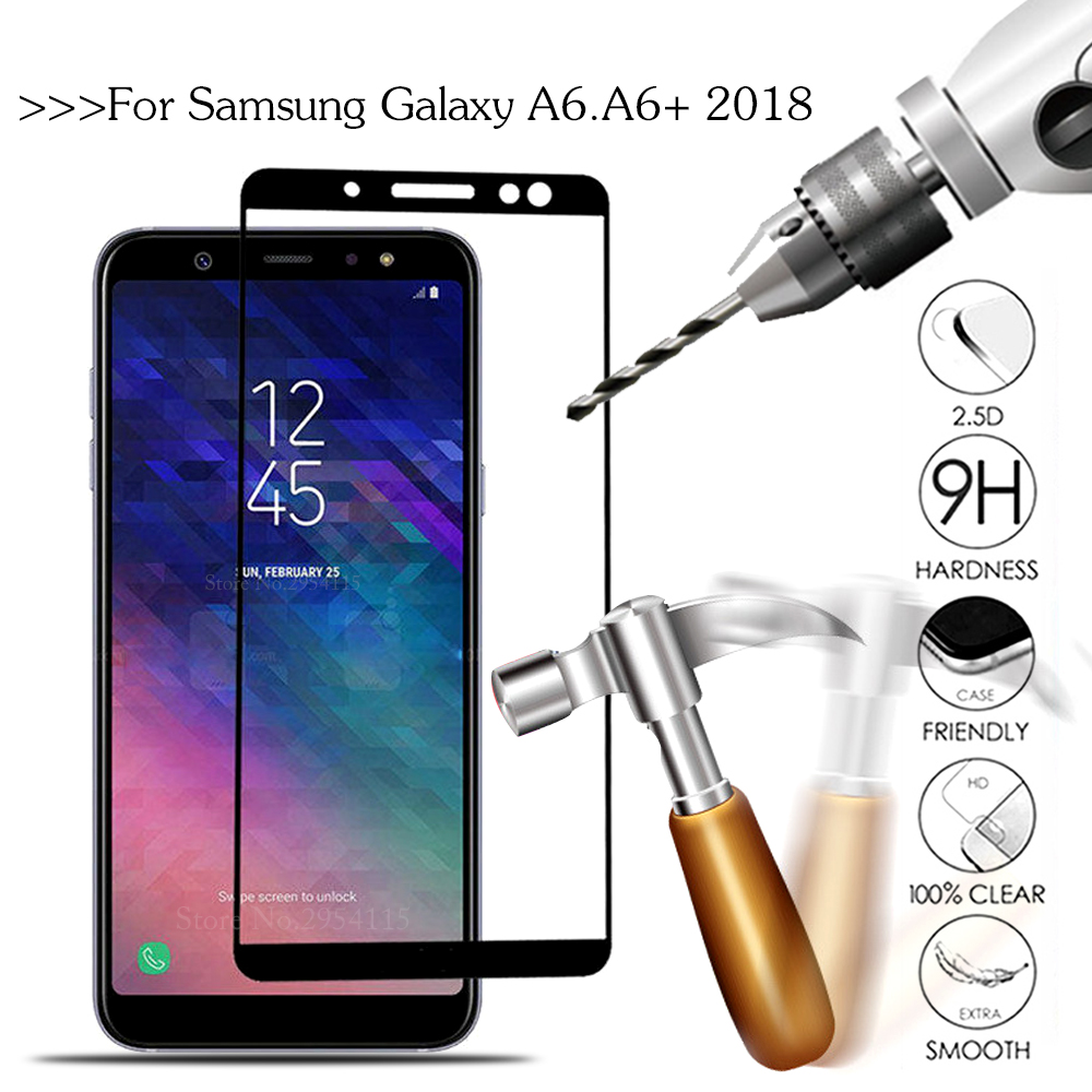 Tempered Glass For Samsung Galaxy A6 2018 A600FN SM-A600F Screen Protector For Samsung A6 Plus 2018 A6Plus A605FN SM-605F A 6