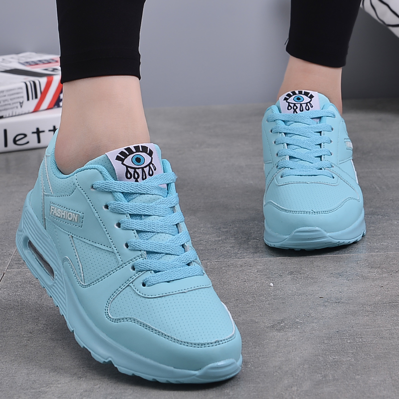 2018 New Fashion Flat Women Trainers Breathable Shoes Woman Leather Casual Tenis Feminino Sapato Women Flats Zapatillas Mujer