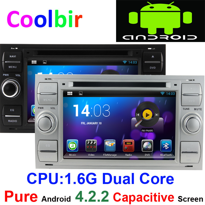pure android 4 2 2din car dvd gps radio for ford focus c. Black Bedroom Furniture Sets. Home Design Ideas