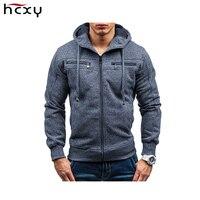 2017 New Spring Mens Hoodies Sudaderas Hombre Brand Hoodie Men Decorative Pocket Sweatshirt Suit Slim Fit