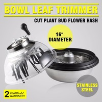 Professional 16 Bowl Leaf Trimmers Гидропоника из нержавеющей стали растение Bud Spin W/Wire Blades 16 BOWL BUD LEAF TRIMMER
