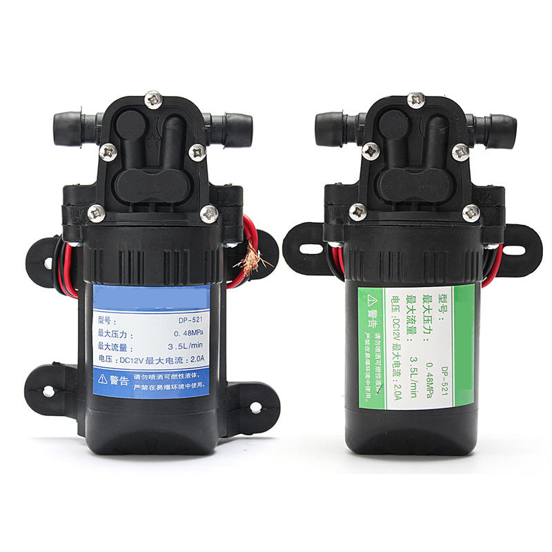 1X DC 12V 3.5L/M High Pressure Micro Diaphragm Self Priming Diaphragm Water Pump For RV caravan Boat Garden dc 12v 80w high pressure diaphragm water pump electric water pump for boat caravan marine motor water pumps