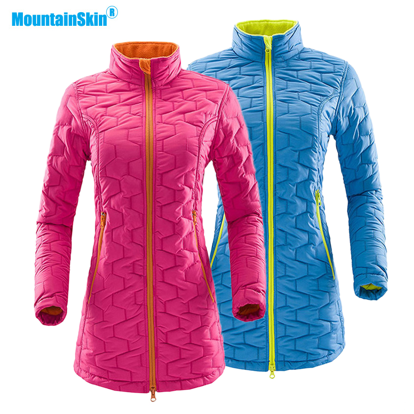 Mountainskin de Femmes Épaisse Toison Thermique Vestes Coton En Plein Air Coupe-Vent Randonnée Escalade Randonnée Camping Marque Manteaux MB130