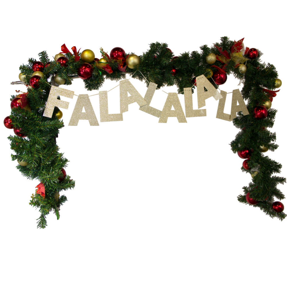 falalalala gold glitter banner christmas garland photo prop handmade holiday decor gold christmas banner glitter garland in pendant drop ornaments from