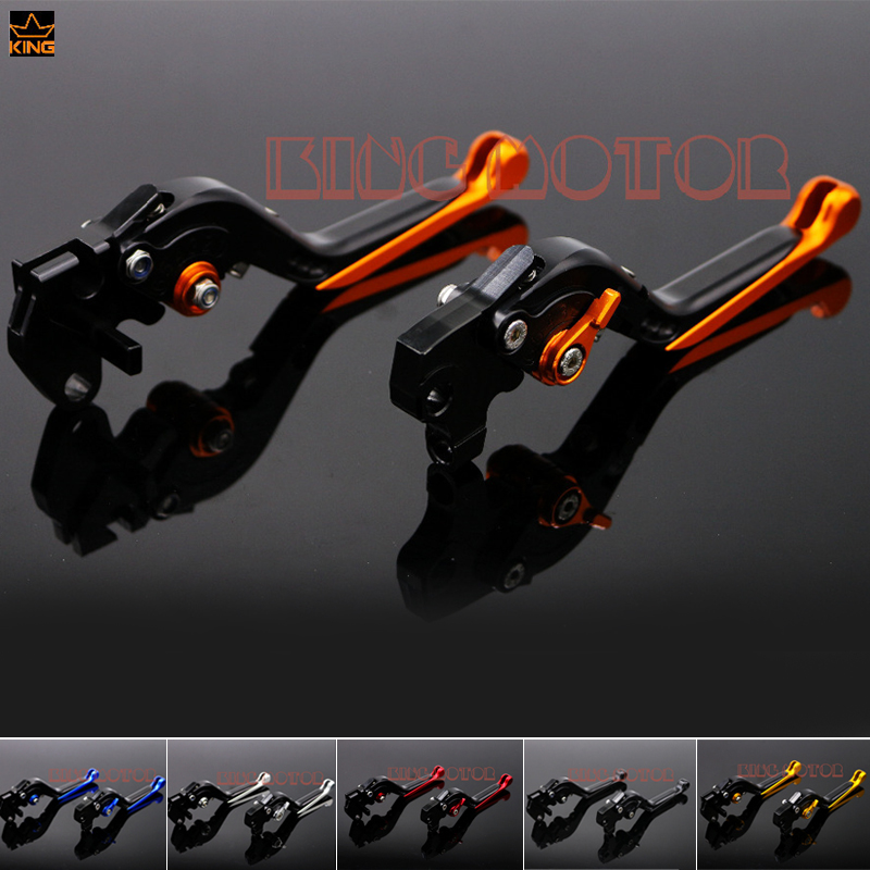 For YAMAHA YZF R125 YZF-R125 2012-2013 Motorcycle Accessories Adjustable Folding Extendable Brake Clutch Levers Orange billet alu folding adjustable brake clutch levers for motoguzzi griso 850 breva 1100 norge 1200 06 2013 07 08 1200 sport stelvio
