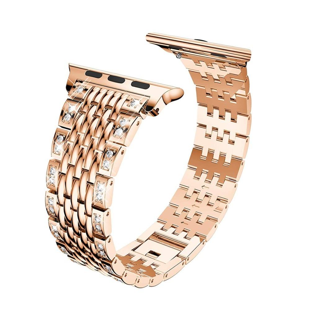 EIMO Diamond Bracelet For Apple watch band 44mm 40mm Stainless steel Link bracelets wrist belt watchband Iwatch series 4 eimo 1 1 original band strap for apple watch series 4 44mm 40mm iwatch 4 stainless steel link bracelet wrist belt watchband