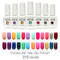 FOCALLURE  212 Colors Nail Gel Polish 1Pcs Long-lasting Soak-off LED UV 15ML Gel Nail polish For Summer Hot Nail Gel