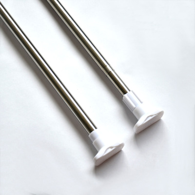 New Tension Rod Extendable Loaded Bathroom Shower Curtain Rod Telescopic Poles Rail Rod DIY Adjustable 17-93 Tool Free Shipping