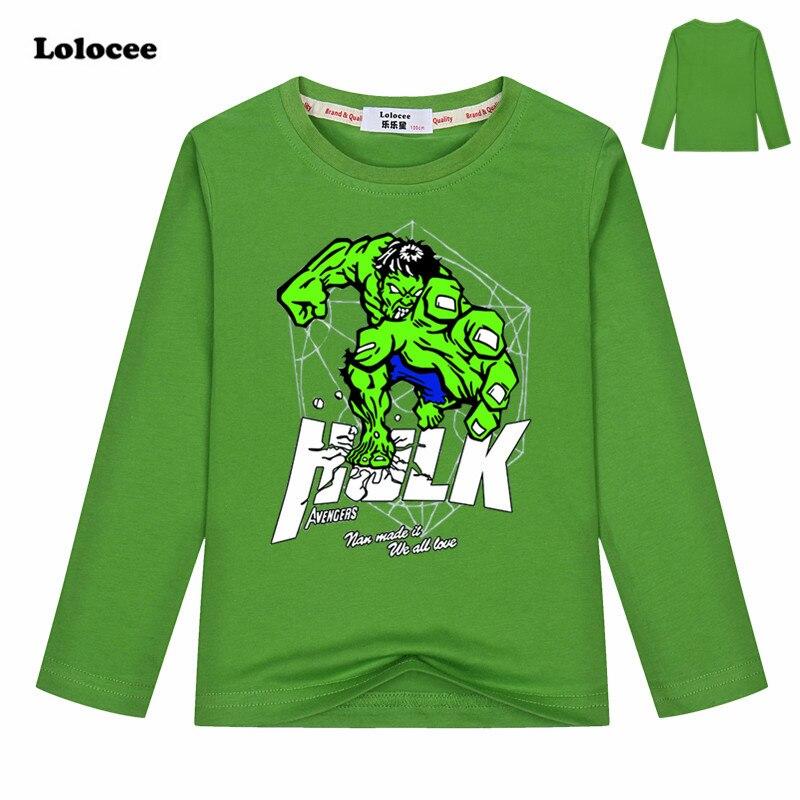 Jungen Kleidung Modestil Neueste Eingetroffen 3-13years Jungen Langarm T-shirt Hulk T-shirt Ameica Kapitän Kinder Baumwolle T-shirts O-ansatz Cartoon Mode Tops Mutter & Kinder