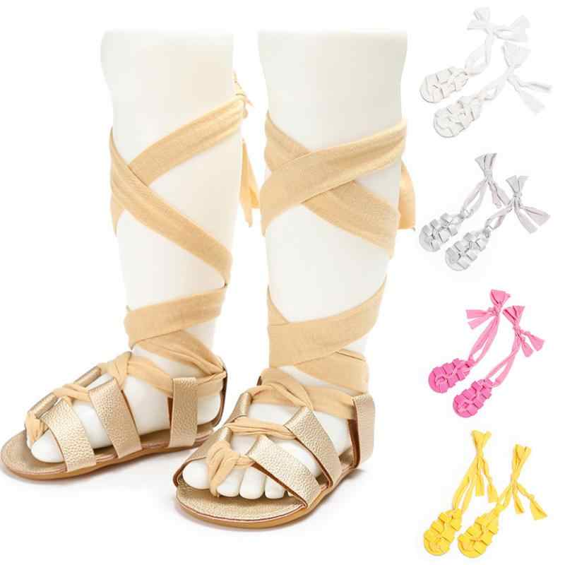 a439f8643c65 ... 6 Color Fashion Baby Kids Girls Summer Shoes Faux Leather Lace-up Flat  Heel Gladiator ...
