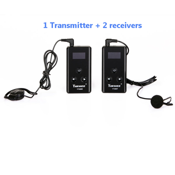 YT200 YARMEE NEW Wireless Tour Guide System 1 Transmitter + 2 Receivers Wisper Radio Equipment Audio Guide System