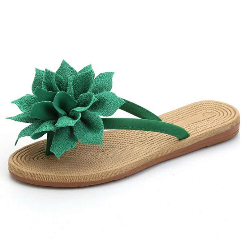 BeckyWalk Baru Musim Panas Sepatu Wanita Sandal Kasual Bunga Besar Anti-slip Pantai Sepatu Wanita Sandal Jepit Sandal Wanita Slides WSH2826