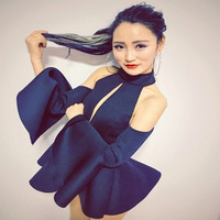 2019 New Sexy Female Singer Hollow Out Dance Costume Nightclub Bar Dj Ds Jazz Performance Dance Wear Backless Set Singer Outfit
