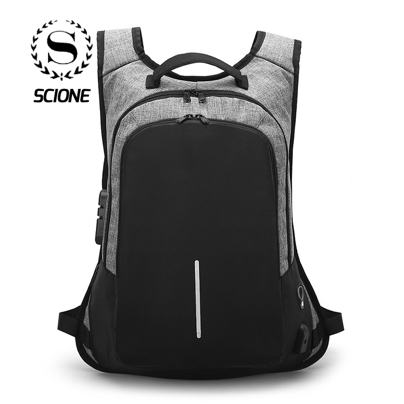5fbf7f5f34 Creative USB Charging Men Backpack New Lock Safety Anti theft School Bag For  Boys Girls Student Children Travel Bags Mochila-in Backpacks from Luggage  ...