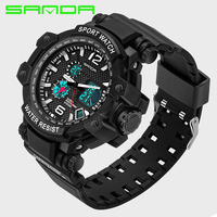 Big Dial Men Sport Watches Fashion Casual Men S Watch Digital Analog Alarm Waterproof Man Military