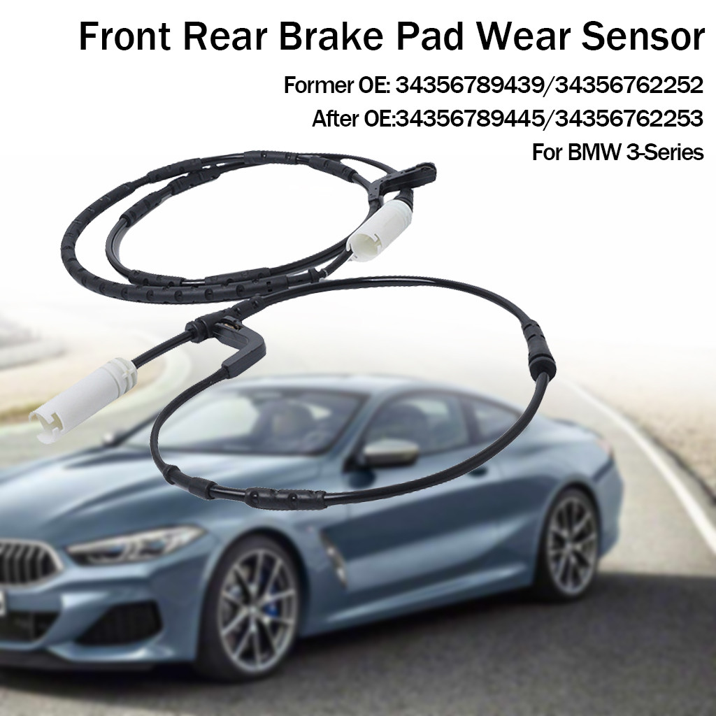 Front+Rear Brake Pad Wear Sensor For BMW 1//3 SERIES E81 E87 E90 E91 E92 E93