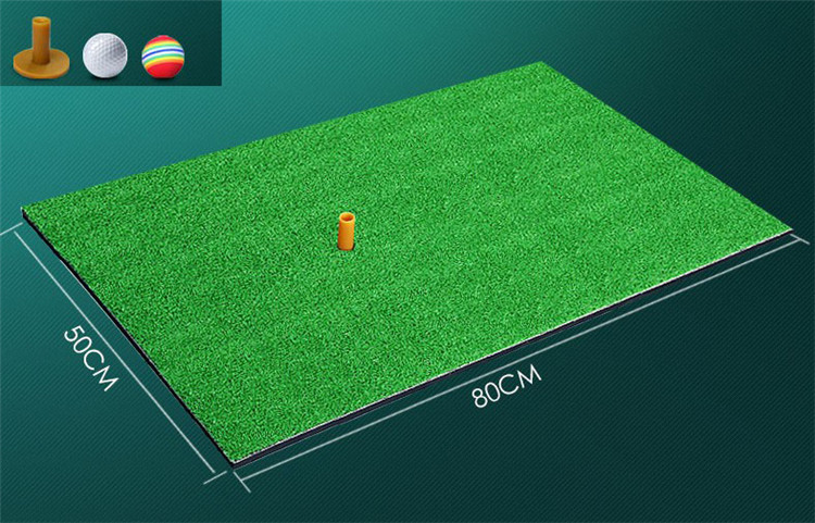 Backyard Golf Mat Indoor Residential Training Hitting Pad Practice Golf Hitting Mats Rubber Tee Ball Free