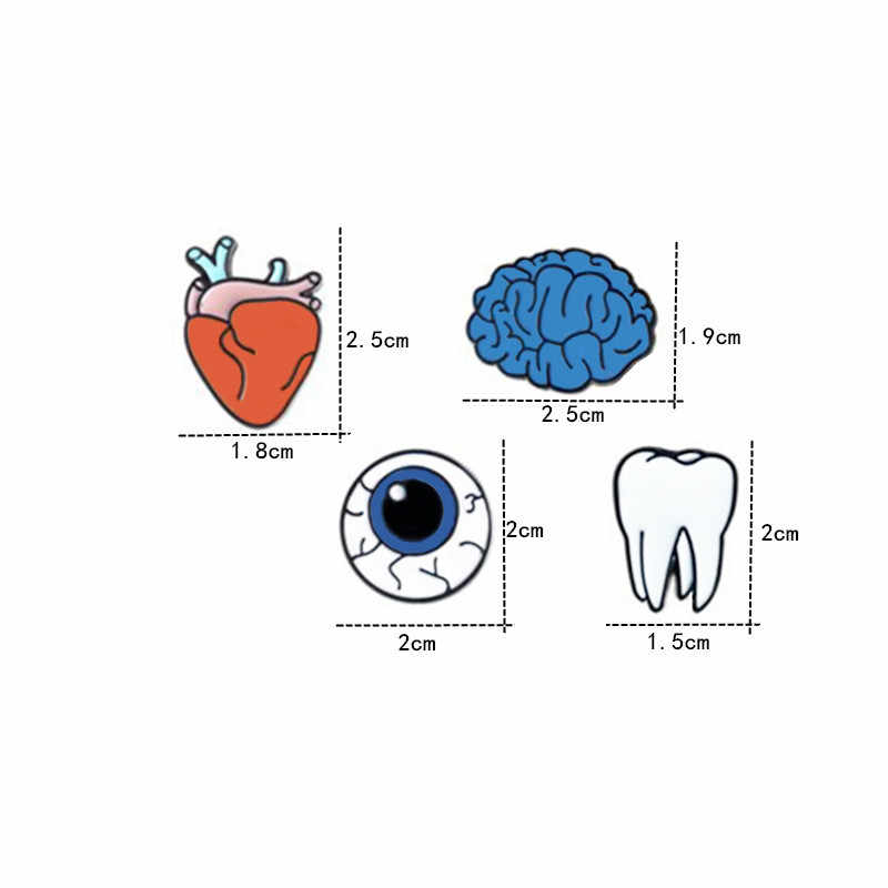 FUNIQUE 1-4 ピース合金ピンエナメル装飾ブローチ女性歯目オルガンブローチラペルピンバッジ襟ブローチバッグジュエリー