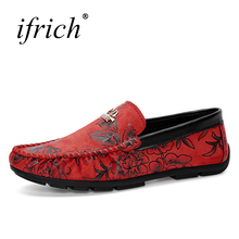Ifrich Spring Summer Mens Shoes Casual Luxury Comfortable Leather Footwear Slip on Loafers Man Cheap