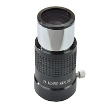 1.25 Inch 2x Achromatic T Adapter / Barlow Lens for Newtonian Telescopes DSLR Camera and Other T-thread Type Accessories (Black) new 1 25 fully multi coated 2x achromatic barlow lens eyepiece for telescope