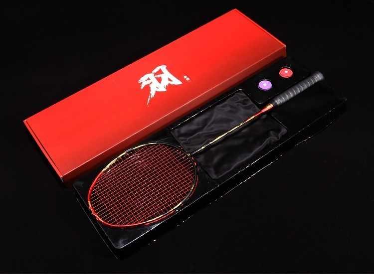Badminton Racket Full Carbon Fiber 4U Professional Competition Level Single Shot Gift Box LJ3003JXF