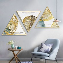 Nordic golden age abstract bedroom wall painting living room background corridor mural Hotel decorative