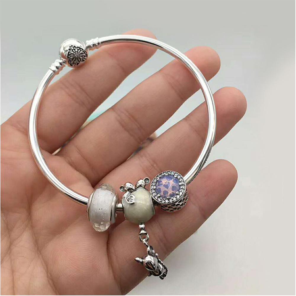 CHAMSS 2019 Original Bracelet Customized New Mouse and Balloon Bracelet Set Shiny Diamonds S925 Silver Womens Luxury JewelryCHAMSS 2019 Original Bracelet Customized New Mouse and Balloon Bracelet Set Shiny Diamonds S925 Silver Womens Luxury Jewelry