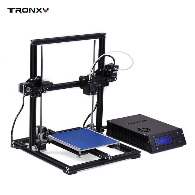 TRONXY X3 אלומיניום מבנה מכונה שולחן העבודה 3D מדפסת ערכת DIY הרכבה עצמית אוטומטי פילוס עם LCD מסך 8 GB זיכרון כרטיס