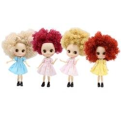 Fabryka middie lalka 1/8 bjd dzikie-curl włosy na różowo brązowy blond matowa twarz wspólne body 1/8 bjd prezent zabawka