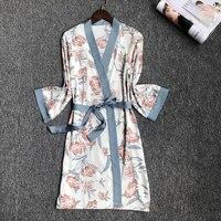 2019 summer kimono robe silk women wedding preparewear bride team heart golden glitter print robes bachelorette pajamas