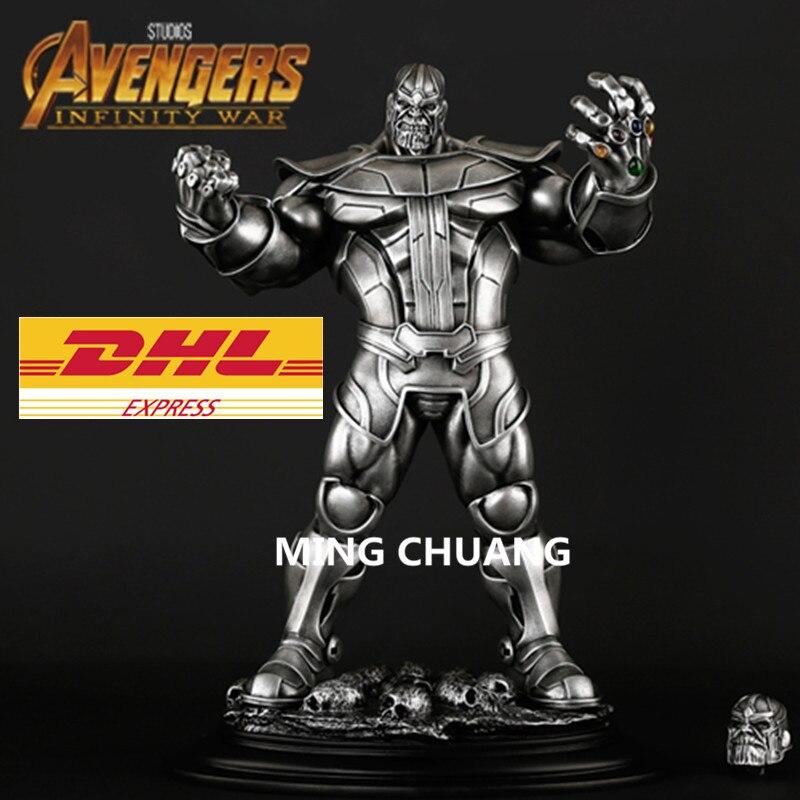 DHL Avengers infinity guerre ennemi de Iron man Thanos Statue GK buste Résine Action Figure Collection Modèle Jouet avec boîte 35 CM Q169