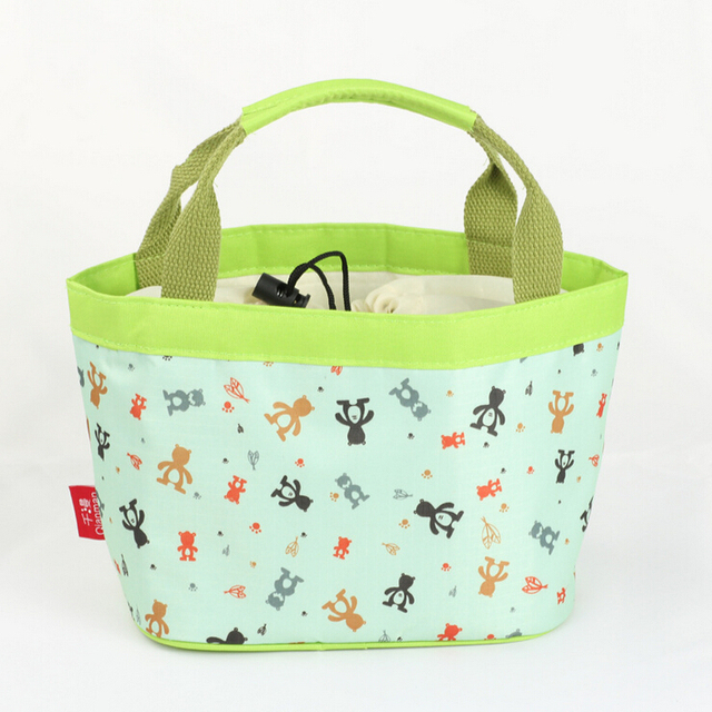 Lambing lamb bear waterproof insulation boxes bags lunch bag small bag drawstring tote