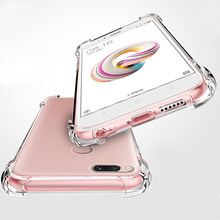 Silicone Shockproof Clear Soft Case for Xiaomi 8 8SE 8Lite 5X Mix 2 Anti-Knock Cases for xiaomi redmi 5 6 plus Note 4x 4A 4X(China)