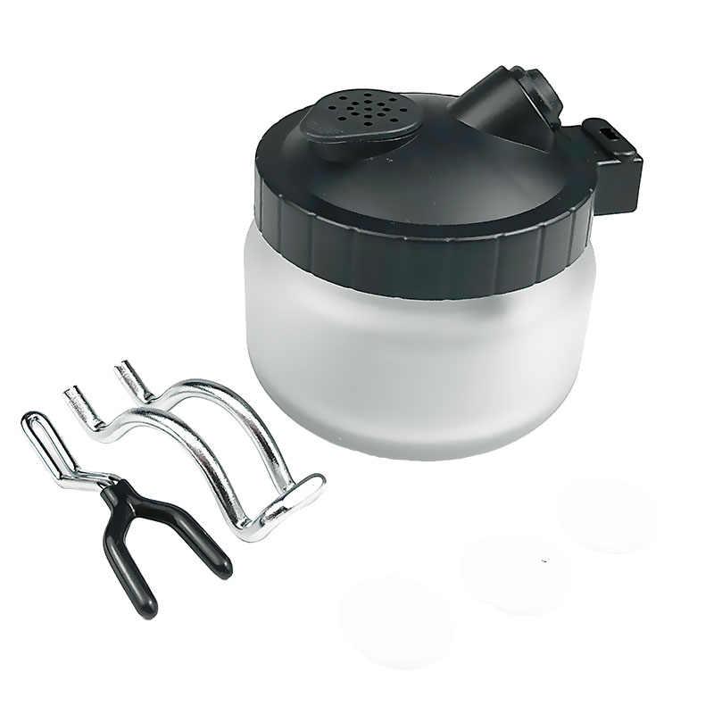 Airbrush Cleaning Pot 0.2/0.3/0.5 Mm Jarum Nozzle Set Kuas Cat Kaca Botol Filter Frosted Spray pistol Cleaner Alat Kit