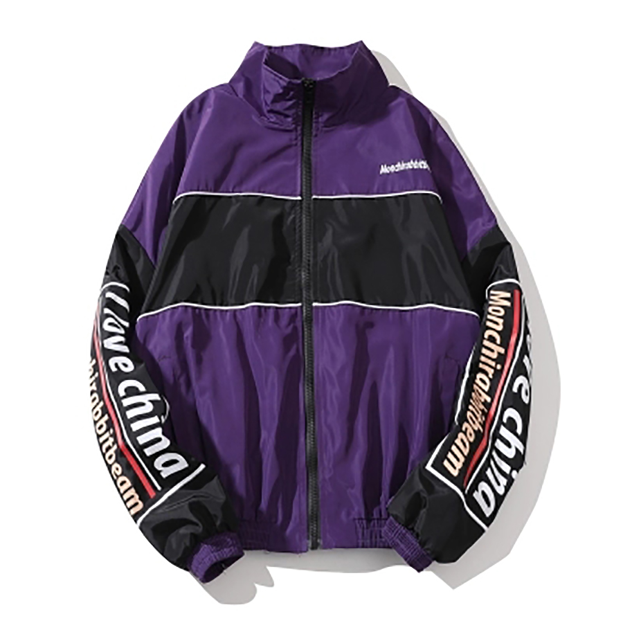 Vintage Men Jackets Summer Reggae Retro Windbreaker Jacket Men Streetwear Hip Hop Color  ...