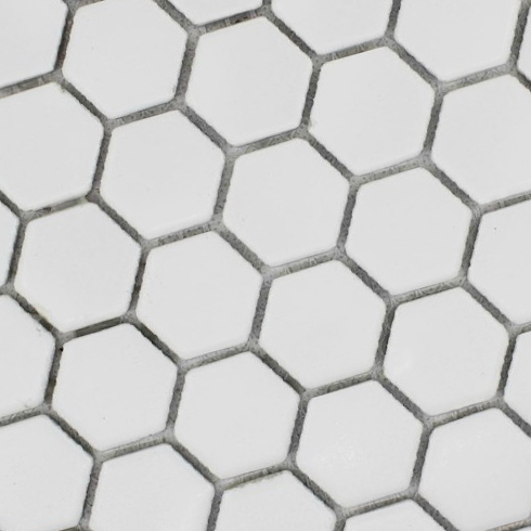 White Hexagon Floor Tiles Patterns Ceramic Porcelain Mosaic Tile Glossy Bathroom Wall Merola Hexagonal