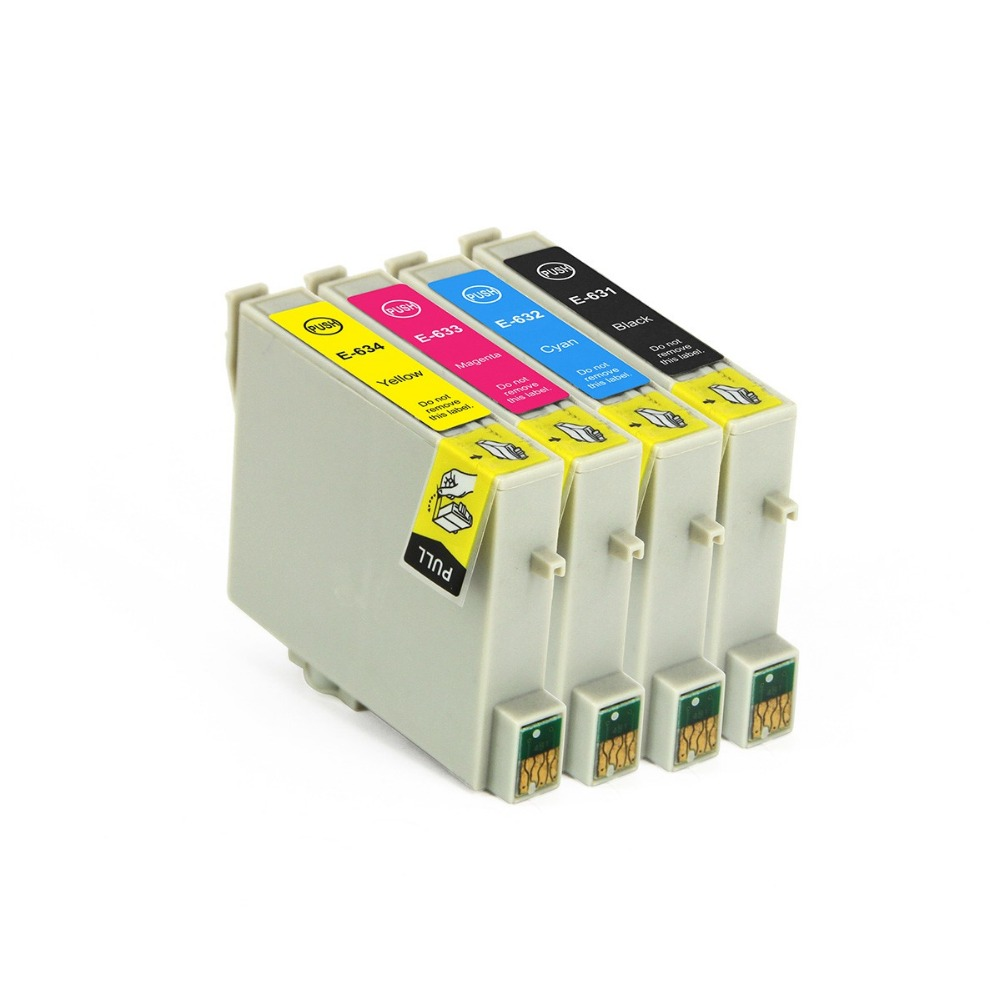 Full Ink 4 PCS Ink Cartridge T0631 T0632 T0633 T0634 Printer for Epson Stylus C67 C87 CX3700 CX4100 CX4700 CX5700F CX7700