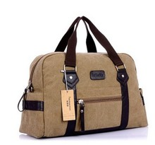 Men journey baggage New males's Fashion informal canvas journey duffel shoulder messenger delicate deal with baggage for male sizzling promoting